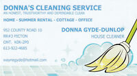 Cleaner has openings for new clients