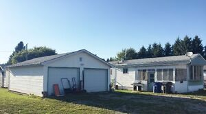Mobile home and garage on large lot in White Fox