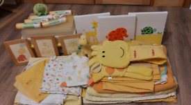 Mothercare Baby Jungle/ Jungle Safari/Giant Giraffe Nursery Bundle