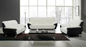 BRAND NEW GENUINE LEATHER SOFA SET (COUCH+LOVE SEAT) ON SALE
