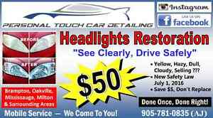 Headlights Restoration - $50 - (done once, done right!)