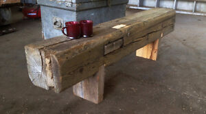 Mantel Piece - Hand-hewn Barn Timber Kawartha Lakes Peterborough Area image 3