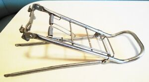Like New!    Chrome rear bicycle carrier