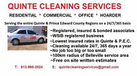 Quinte & P.E.C Home & Office Cleaning. Lowest rates,Guaranteed!