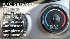 A/C CHECK,RECHARGE AND REPAIR $39.95