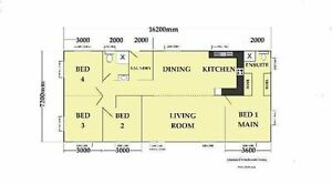 4 bed room kit home Central West Area Preview