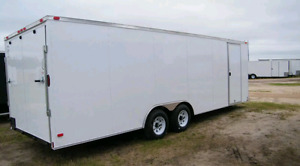Cargo trailer 24'x8.5' 2017 new, used for a small moving