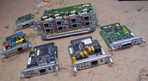 Lot of 6 - Assorted Cisco Switch Modules - As Is |