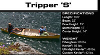 Tripper S Clipper Canoe ( Canoes ) Fibre Glass lay up.