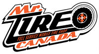 Tire Service at your Door! Mobile Tire Shop 587-899-TIRE