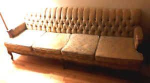 Vintage Late 1940's French Provincial Sofa & Arm Chair Set