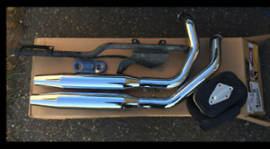 Harley Davidson Stock Excaust Pipes