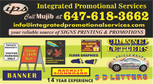 Signs, Bag Signs, Printing, Promotional Items & Graphic Design