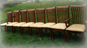 Eight Matching Dining Chairs