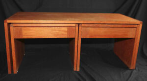 Teak Furniture Set (coffee table with 2 nestled end tables)