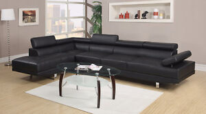 NEW Grey Bonded Leather Reclining Sofa Set!  FREE Delivery!
