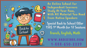 English & French Teachers Available Now To Help You At Home.