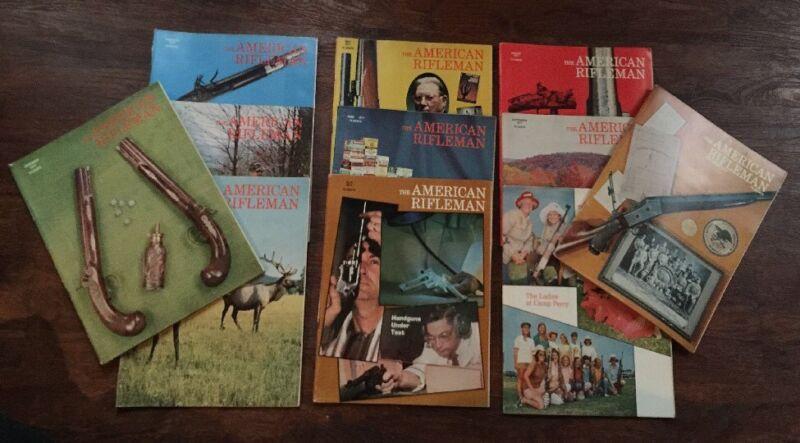American Rifleman Magazine Lot of 11 Vintage 1971 Hunter Sportsman Guns Safari