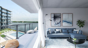 Condo newly built of 2 bed/2 bath with lake view in LUXEO condos