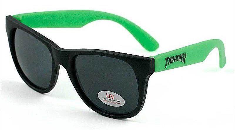 Thrasher Magazine BEER GOGGLES Skateboard Sunglasses GREEN