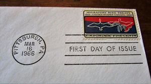 1966 Migratory Bird Treaty 5 Cent First Day Cover Kitchener / Waterloo Kitchener Area image 3