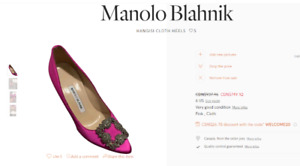 Manolo Blahnik HANGISI  SATIN CLOTH HEELS