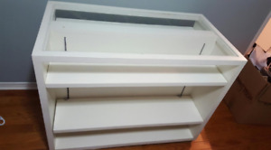 Beautiful White Credenza with 6 Adjustable Shelves