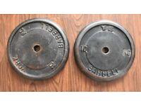 York Weight Plates 2 x 10kg Cast Iron