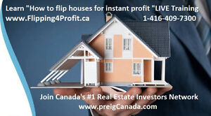 "Learn ""How to Fix & Flip Houses"" to make instant profit Seminar"