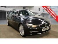 2013 13 BMW 3 SERIES 2.0 320D LUXURY TOURING 5 DOOR DIESEL BLACK