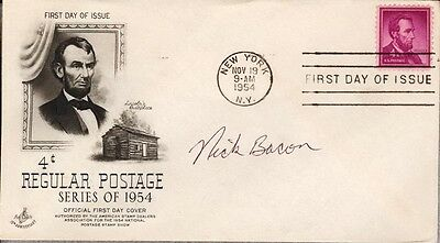 NICK D. BACON - FIRST DAY COVER SIGNED