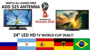 "RCA TV 24"" LED HDTV $139 WORLD CUP SUPER SALE"