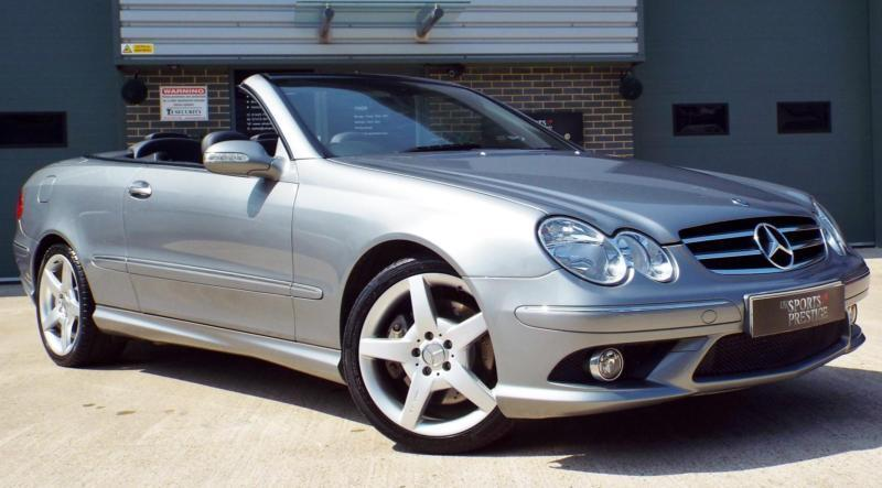mercedes benz clk 200 kompressor 1 8 sport palladium silver amg convertible in knaresborough. Black Bedroom Furniture Sets. Home Design Ideas