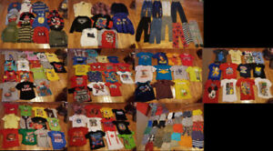 $1 Each 150 Pieces 4T Boys Clothing Shirts Shorts Pants Sweaters