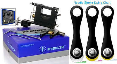 Stealth Box Set Aluminum Rotary Tattoo Machine Supply Ink + 2 Bearings + Tools