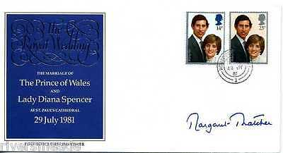 Politics fdc 1981 SIGNED Margaret Thatcher, House of Lords pk