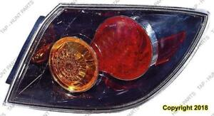 Tail Light Passenger Side Hatchback Without Led High Quality Mazda 3 2004-2006