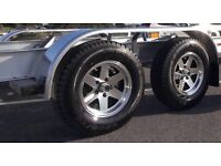 Alloy wheels for trailer caravan wanted set of 4 required with tyres preferably