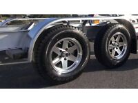 Trailer Alloy wheels for trailer or caravan wanted set of 4 required with tyres preferably