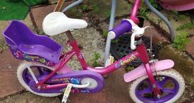 Raleigh bounce toddler girls push bike cycle peddal bicycle