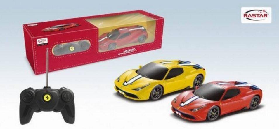 Brand New RASTAR Licensed R/C Remote Control 1:24 Ferrari in Yellow