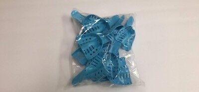 Dental Plastic Disposable Impression Trays Perforated Medium Upper Mu 12pcs