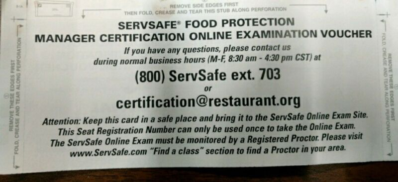 ServSafe Exam Access Code