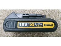 Dewalt 18v xr 1.5ah battery