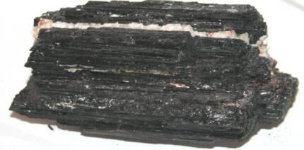 380 BLACK TOURMALINE ROUGH WITH MICA AND DOLOMITE