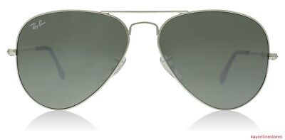Discounted Ray Ban 3025 W3277 Silver Frame Aviator Sunglasses (Discount Ray Ban Frames)