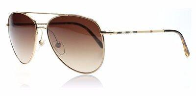Burberry Sonnenbrille  Sunglasses B3072 neu Gold Braun Aviator Damen Herren Unis