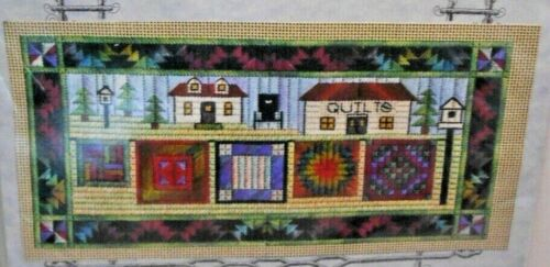 Nancys Needle AIRING THE QUILTS Needlepoint Amish Quilts Thread KIT