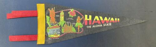 "Vintage Hawaii The Aloha State Travel Souvenir 12"" Pennant"