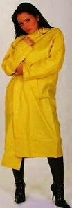 regenmantel gelb pvc regenjacke xl gummi kapuze fetisch plastik folie glanz ebay. Black Bedroom Furniture Sets. Home Design Ideas